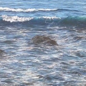 """Small wave at Giovinazzo"" 100cm x 150cm acrylic on canvas"