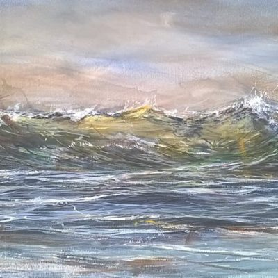 """Shoreline wave"" 27cm x 43cm approx. watercolour"