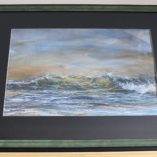 """Shoreline wave"" Frame dim. 47cm x 63cm, painting 27cm x 43cm approx. watercolour"