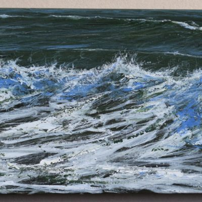 """Small Ogmore study 1"" 20cm x 40cm acrylic on canvas"