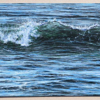 """Small wave painting"" 18.2cm x 25.7cm acrylic on canvas panel"