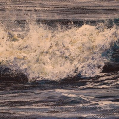 """Small wave study"" 10cm x 27cm acrylic on canvas panel"