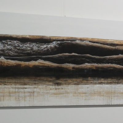 """Wave composition 5"" 100cm x 200cm acrylic on canvas"