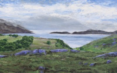 """Loch Sheildaig and distant mountains"""