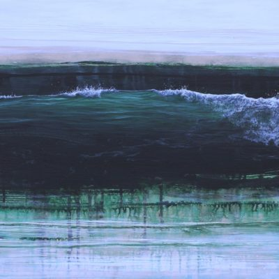 """Wave Composition 4"" acrylic on canvas 55cm x 80cm"