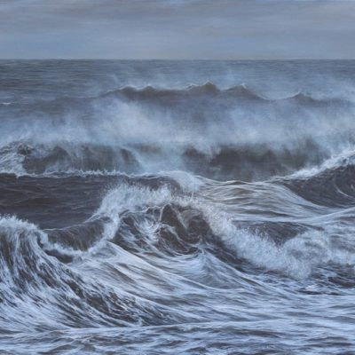 """The last of the storm at Southerndown"" acrylic on canvas 58cm x 118cm"