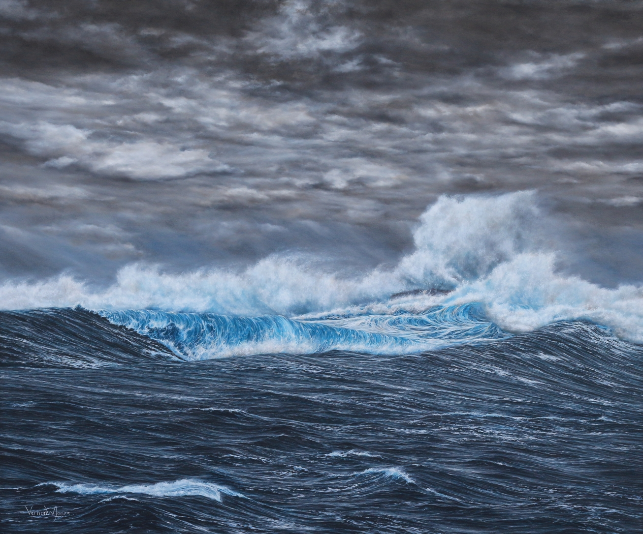 Rs Storm Impacts The Isle Of Skye 100cm X 120cm Oil On Canvas