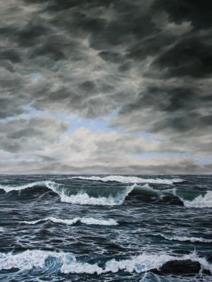 """Advancing the shore"" 110 X 80cm oil on canvas"