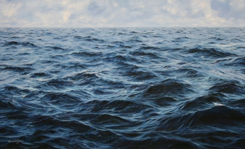 """Deep Blue"" 90cm x 120cm oil on canvas"