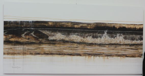 """Wave Composition 6"" 100cm X 200cm Acrylic On Canvas"