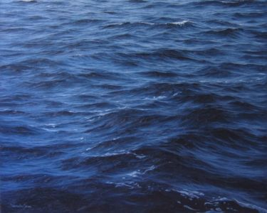 """Deep blue 2"" 50cm x 70cm oil on canvas"