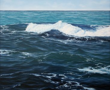 """Hebredean wave"" 80cm X 100cm oil on canvas"
