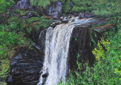 """""""The crest of Victoria Falls"""" 70cm x 100cm acrylic on canvas"""