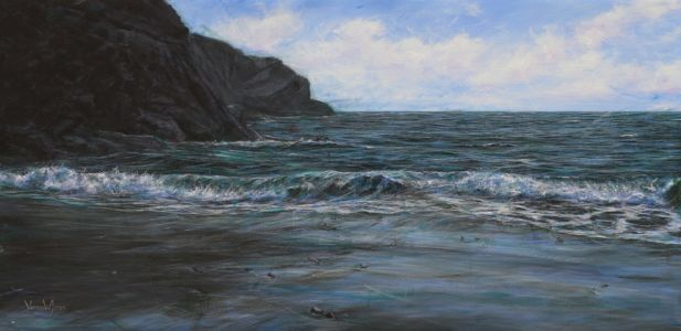 """Carfai bay"" 60cm x 120cm acrylic on canvas"