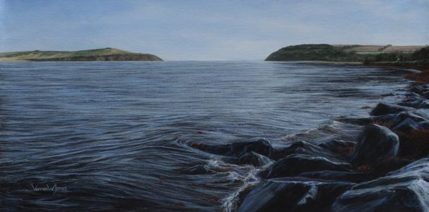 """Cromarty sutors"" 40cm x 80cm acrylic on canvas"