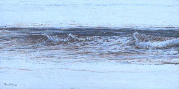"""Wave Composition 1"" 30cm X 60cm acrylic on canvas"