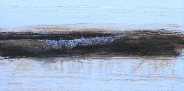 """Wave Composition 2"" 30cm X 60cm acrylic on canvas"