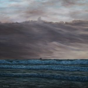 """Nearing days end"" 60cm x 60cm oil on canvas"
