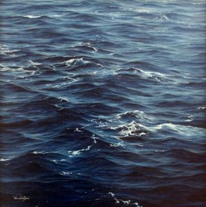"""Seastudy  21"" 50cm x 50cm oil on canvas"