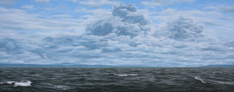 """Y Mor Gwyllt"" 50cm x 120cm oil on canvas"