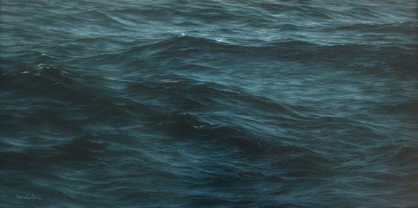 """Seastudy 71"" 43cm X 83cm oil on canvas"