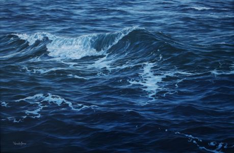 """Softly Towards The Shore"" 69cm X 106cm oil on canvas"