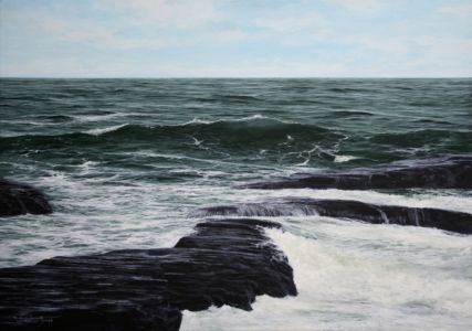 """Surging Waves"" 40cm x 60cm acrylic on canvas"
